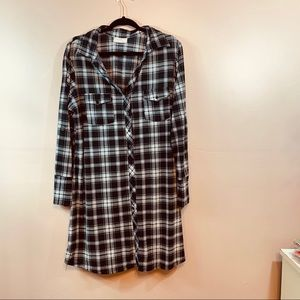 Plaid Long Flannel Dress
